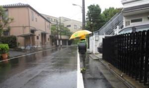 雨の日の朝